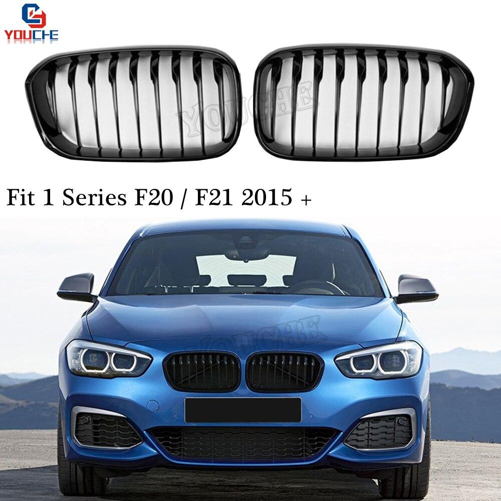F20 Facelift Replacement Front Bumper Grille Kidney Grill Mesh for BMW 1 Series F20 F21 Hatchback 2015 + 118i 120i 128i M140i