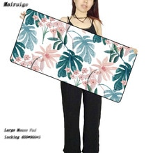 Mairuige feuilles tropicales grand tapis de souris Gamer tapis de jeu tapis de clavier tapis de bureau jeu dordinateur tablette jeu de jeu avec bord de verrouillage