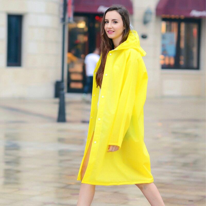 Abrigo impermeable transparente portátil para adultos a la moda para mujeres y hombres para senderismo al aire libre no desechable