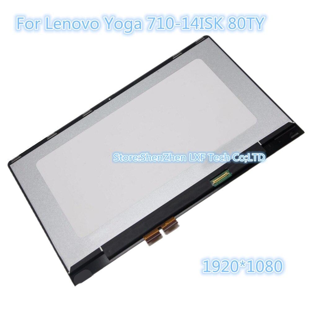 Para Lenovo yoga 710-14ISK 80TY yoga 710-14ikb pantalla lcd con panel táctil lcd reemplazo de montaje 1920*1080