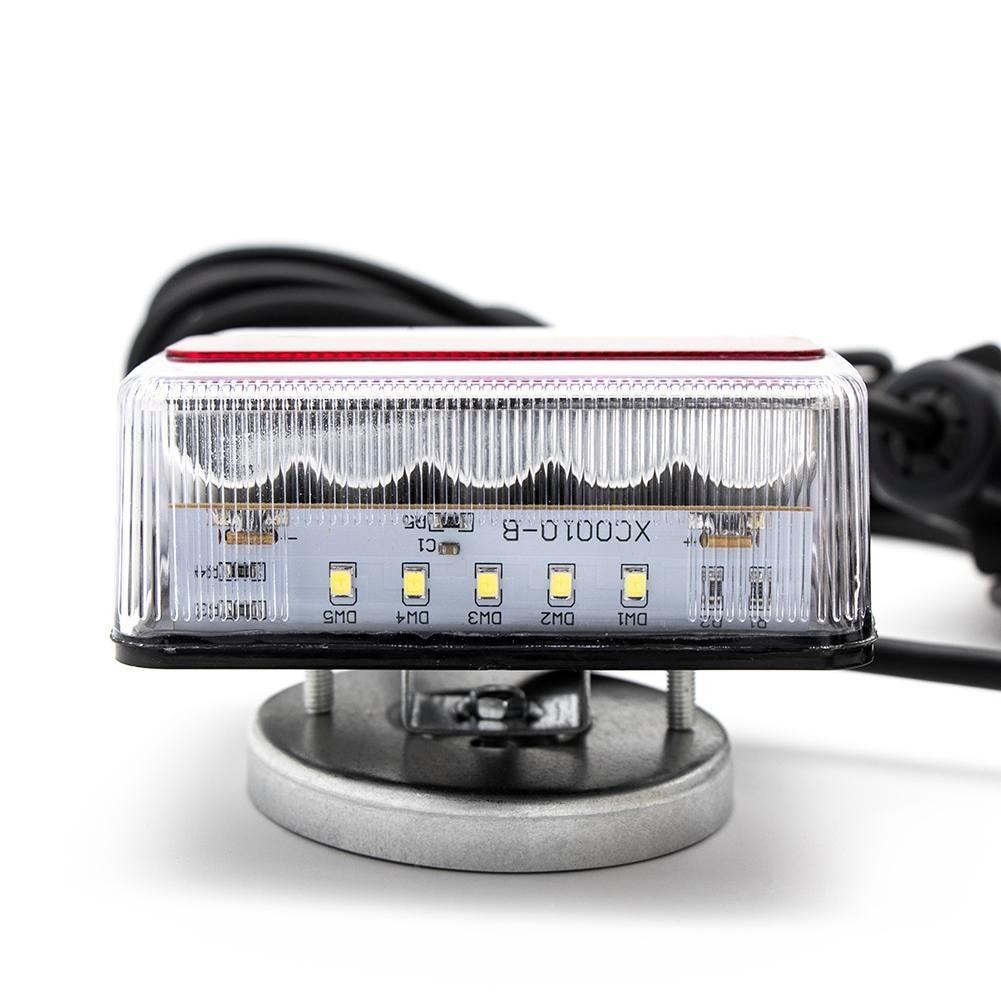 Remolque LED visible coche con luces traseras luz lateral indicador de Parada matrícula trasera energía eficiente ámbar y luces LED rojas