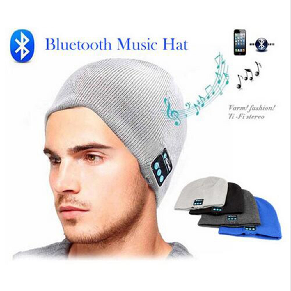 Nuevo gorro a la moda, gorro, auricular inalámbrico Bluetooth, auriculares inteligentes, altavoz, micrófono de invierno, estéreo deportivo para exteriores, sombrero musical