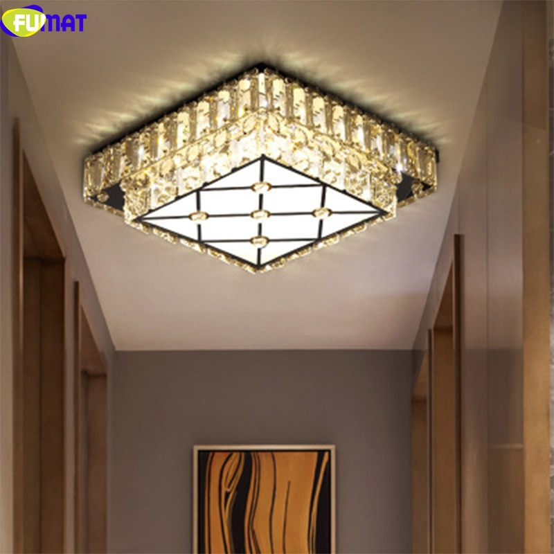 Lámparas de techo de cristal K9 moderno FUMAT luces LED de acero inoxidable iluminación de accesorios acrílicos y colgantes para comedor de cocina