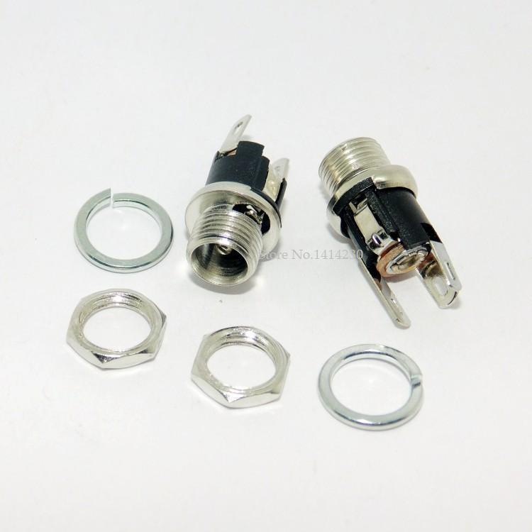 Douille avec écrou prise dalimentation cc   5 pièces 5.5-2.1MM 5.5*2.1 DC connecteur de montage sur panneau femelle