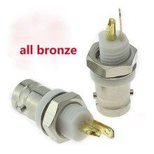 Connecteur de panneau BNC blanc   5 pièces, tout cuivre isolé isolé femelle 50 Ou BNC connecteur de panneau BNC prise Q9