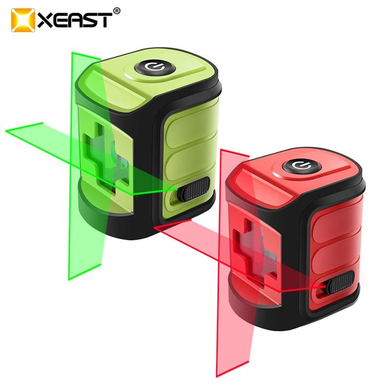 XEAST XE-02A Laser Level Cross Line Horizonatal Vertival  Self- leveling Mini Portable Laser Level