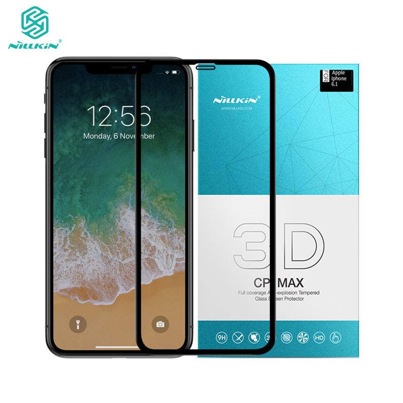"""Nillkin Protector de pantalla de la sFor iPhone XR de 3D CP + Max funda completa templada de vidrio para iPhone XR 6,1"""""""