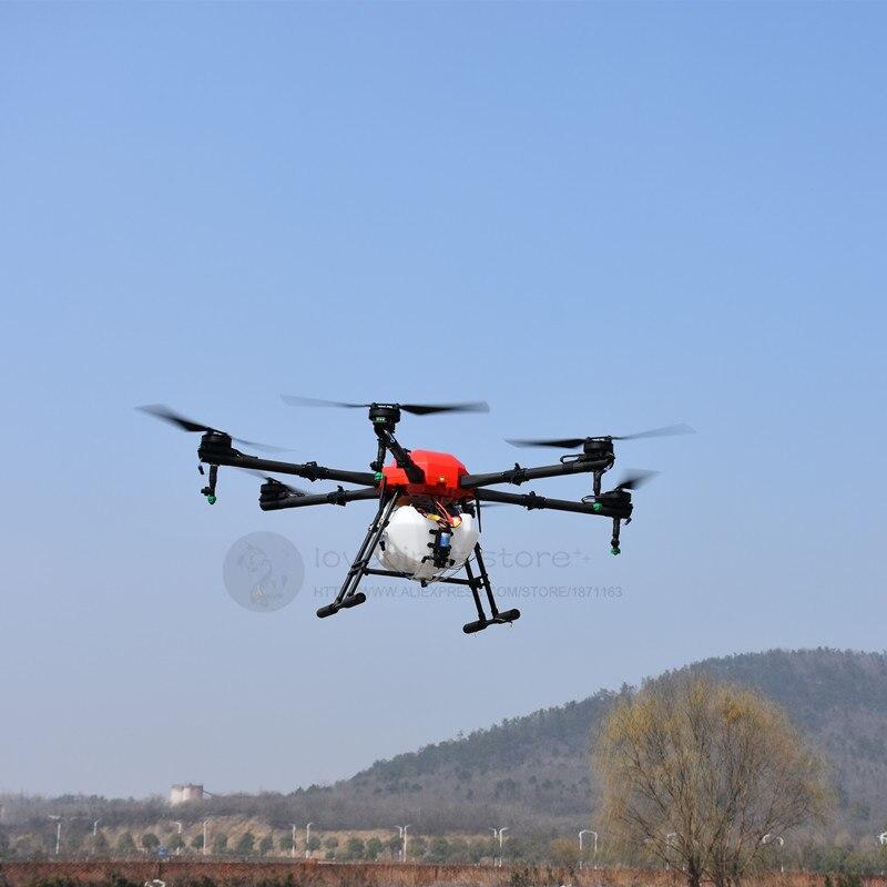 SA616 16L agricultura impermeable Dron rociador de 16KG 6 ejes quadcopter marco SIYI DK32 K3-A pro
