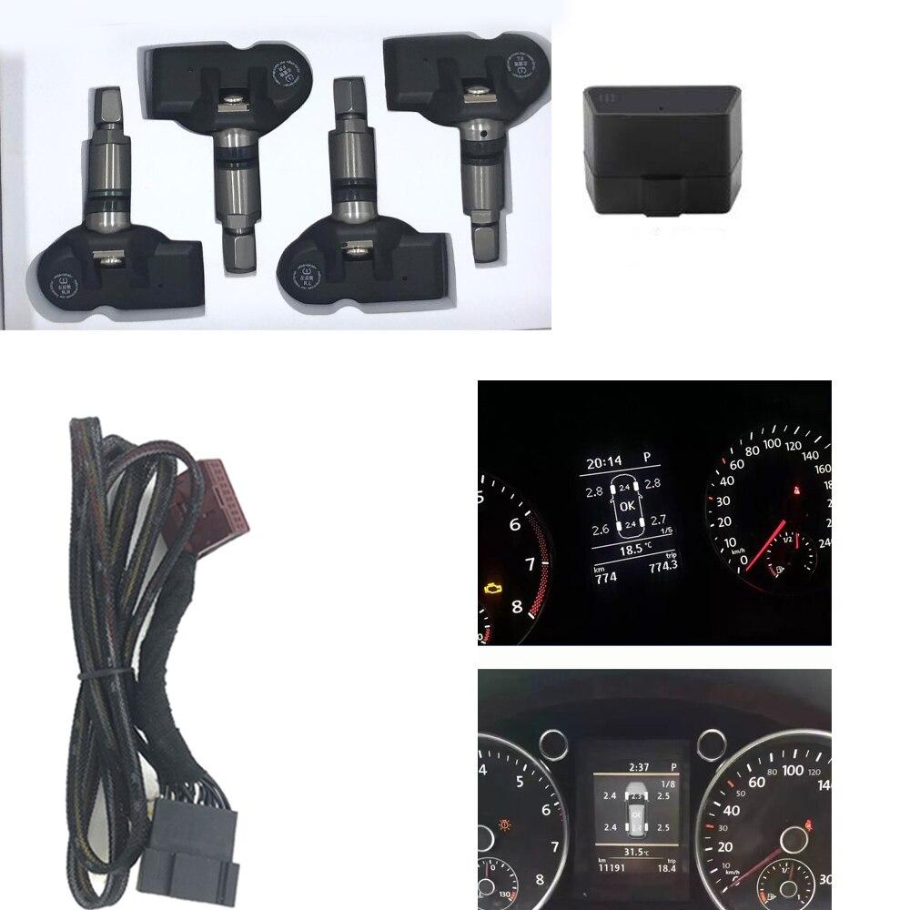 Monitor de presión de neumáticos OBD TPMS para coche, 433MHz para VW passat B7 2013-2018 Tiguan 2013-2018 Touran 2013-2018 para VW MQB PQ