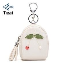 Women Coin Purse Cherry Cute Wallet Lady Retro Vintage Flower Small Wallet mini Hasp Purse Kawaii Bag Key Bag
