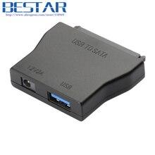 "USB 3.0 to Sata Converter Cable With EU 12V 2A Power Adapter For 2.5""&3.5"" Hard Drive HDD SATAI SATAII SATA3 Connector"