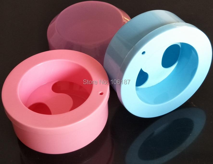 10Pcs Mixed Color TOP Manicure Nail Spa Bubble Salon Equipment BOWL ACRYLIC Treatment Polish Tool
