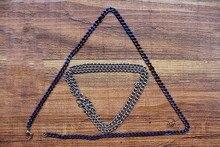Seamless Titanium Necklace Denim Necklace Dog Pendant Chain Edc Pure Titanium Material Seamlessly Made