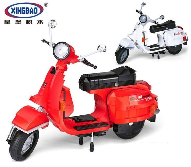 XingBao 03002 732Pcs Genuine Creative Technic Classic Series The Vespa P200 Moto Model Building Blocks kids DIY Brick Toys gift