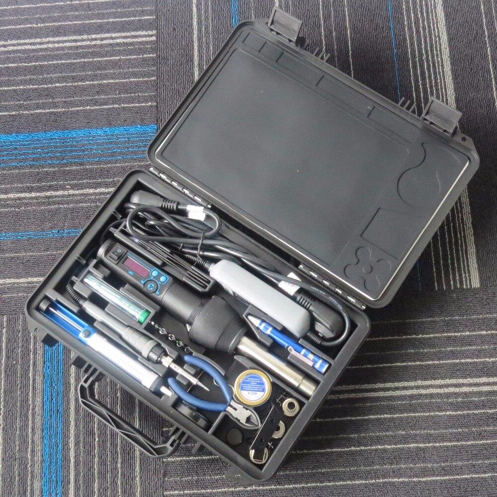YI HUA 8858-I 8858 + 908D EU/US 650W LCD регулируемый электронный тепловой пистолет для горячего воздуха паяльная станция BGA сварочные инструменты