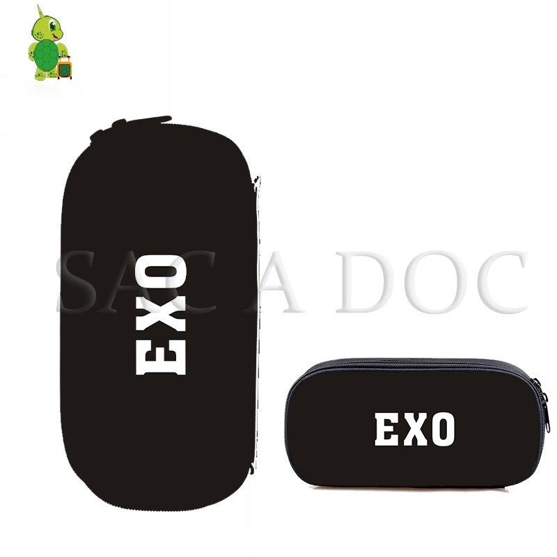 EXO Planet Kosmetische Fall Jungen Mädchen Kinder Schule Lieferungen Schreibwaren Stift Taschen BAEKHYUN/SUHOM Fans Kpop Make-Up Tasche