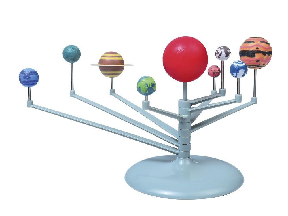 Children Educational DIY Nine Planets in Solar System Planetarium Painting Science Teaching model