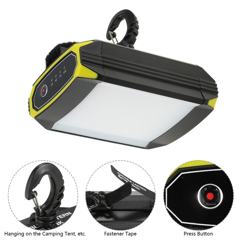 500LM Super brillante ligero 30 LED senderismo Camping linterna al aire libre portátil luces linterna recargable impermeable USB