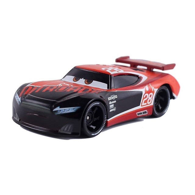 Cars Disney Pixar Cars 3  Lightning McQueen Toys Jackson Storm The King Mater 1:55 Diecast Metal Alloy Model Car Kid Gift Boy 8