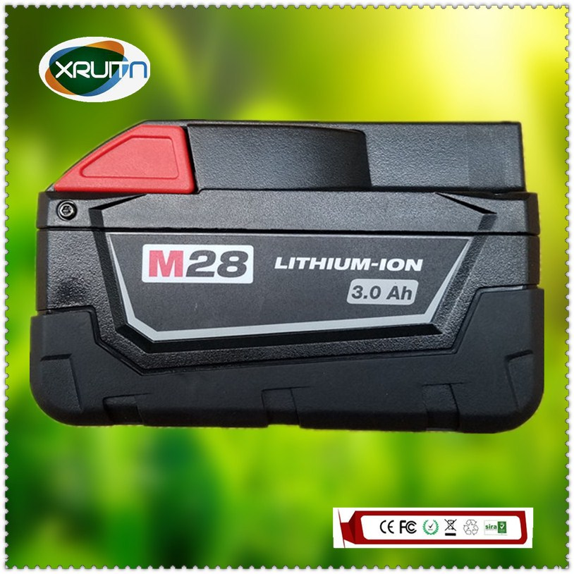 Batería de herramientas eléctricas 48-11-2830 3. 0Ah/3000mah con indicador LED usado, Envío Gratis para MILWAUKEE 28 V M28 V28