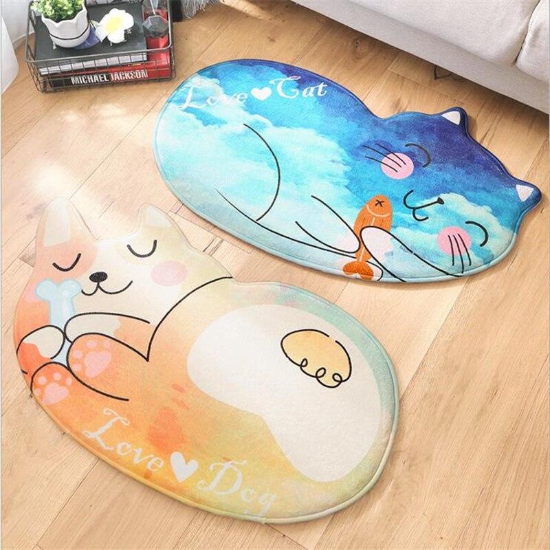 Janpanese Style Soft Lovely Dog Cat Door Mat Floor Mats Carpes For Living Room Bedroom Area Rugs Home Mat Fashion Floor Door Rug