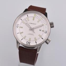 Relógios automáticos homens corgeut luxo marca superior relógio de pulso de borracha moda à prova dwaterproof água mecânica masculino relogio masculino