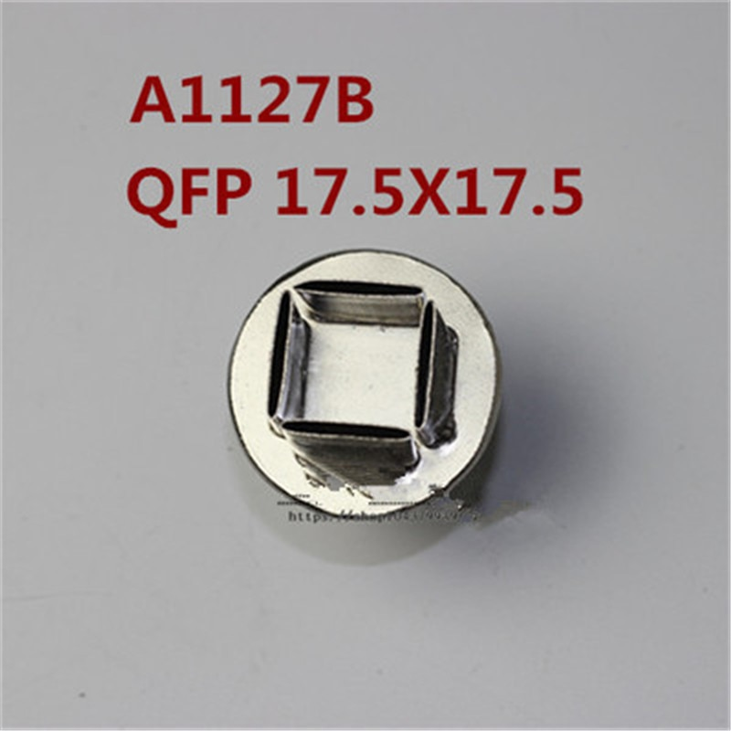 Boquilla de aire caliente 850/852 17,5*17,5mm boquilla de pistola de aire caliente boquilla cuadrada QFP PLCC boquilla de aire caliente soldadura typhoon Tsui A1127B