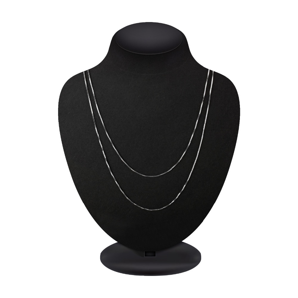 Купить с кэшбэком JewelryPalace 100% Genuine 925 Sterling Silver Necklace Ingot Twisted Trace Belcher Snake Bar Singapore Box Chain Necklace Women