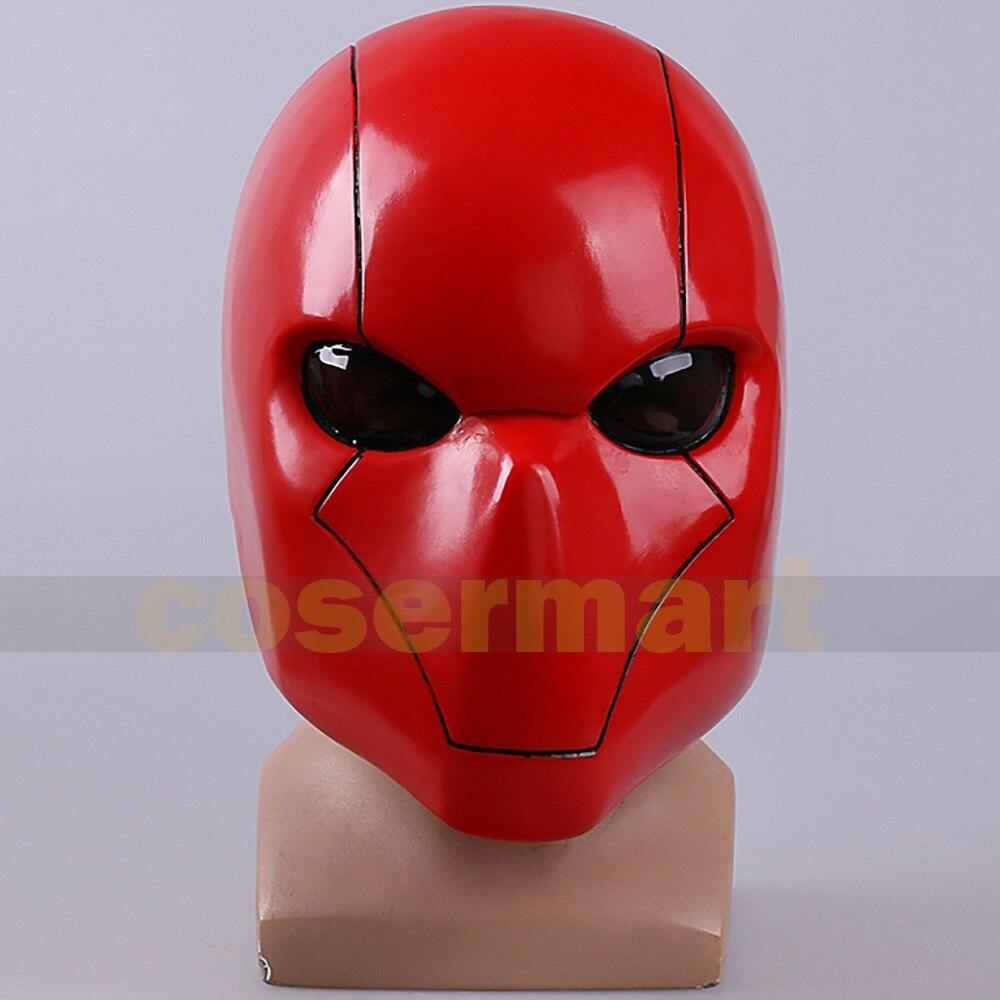 Cheio de Cabeça Cosplay Capuz Vermelho Máscara Morcego Capacete Homem Pvc Traje Prop Replica Fantasia Festa Headwear 2022
