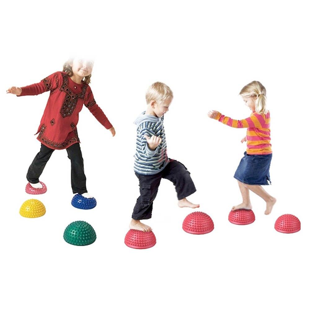 Nouveau 2019 exercice Point déquilibre gymnastique Yoga Pilates balle caoutchouc Yoga demi-balle équipement de Fitness enfants aîné Durian tapis de Massage