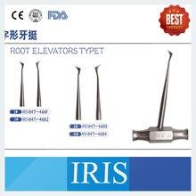 Instruments dentaires pointe de racine apicale ascenseurs de luxation dissolvant de couronne 4 pièces/ensemble elecateurs de racine dacier inoxydable Typet