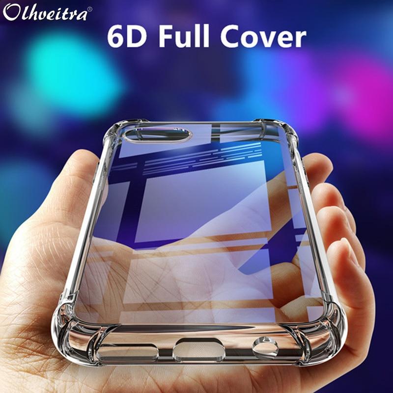 Olhveitra Прозрачный чехол для LG V30 V40 V20 Мягкий силиконовый прозрачный чехол для LG G6 G7 Plus Q6 Q9 K4 K40 K50 V50 ThinQ Funda