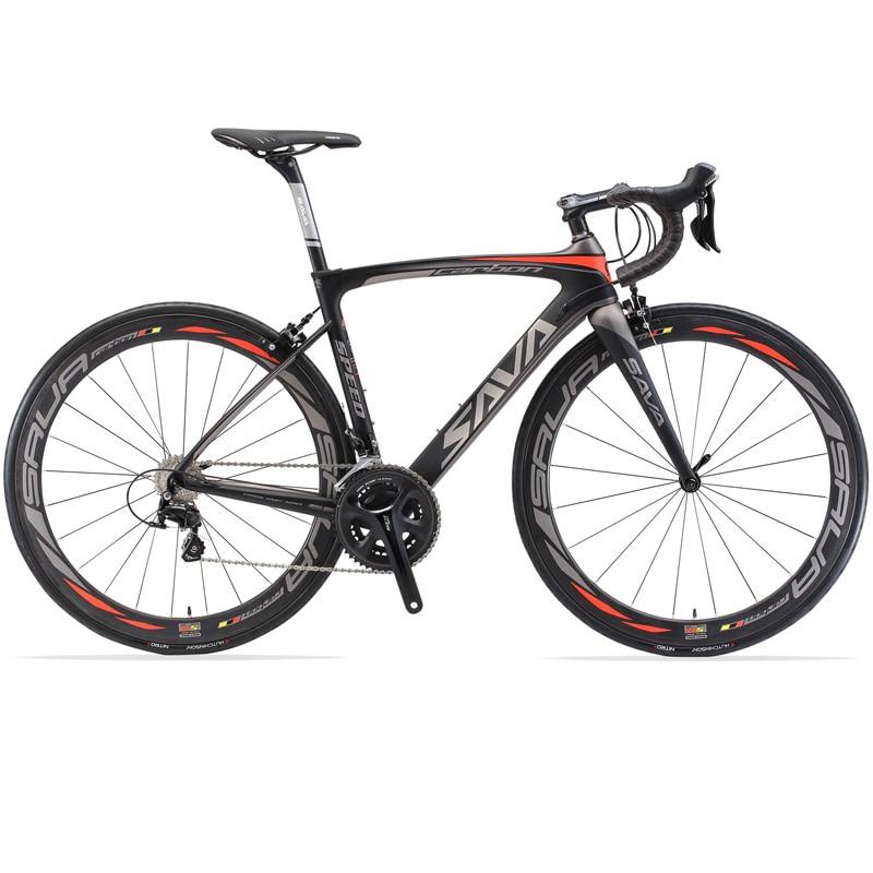 SAVA-bicicleta de carretera de carbono completa, 700C, 8,4 kg, Cuadro De Carbono/juegos...
