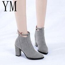 Chaussures femmes chaudes 3 couleurs hiver automne décontracté femmes talons hauts escarpins chaud bottines femmes Botas chaussures Mujer Zapatos taille 34-39