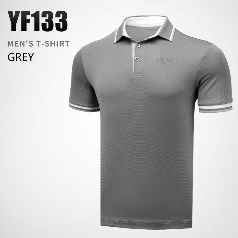 2018 New Arrival PGM Men's Golf T-shirt Summer Short Sleeve T-shirt For Men Outdoor Quick-drying Breathable Golf T Shirt