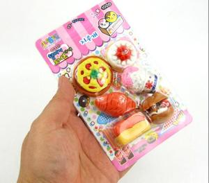 Kawaii Food Styling Erasers For Kids Set Cute Rubber Toy Stationery Items