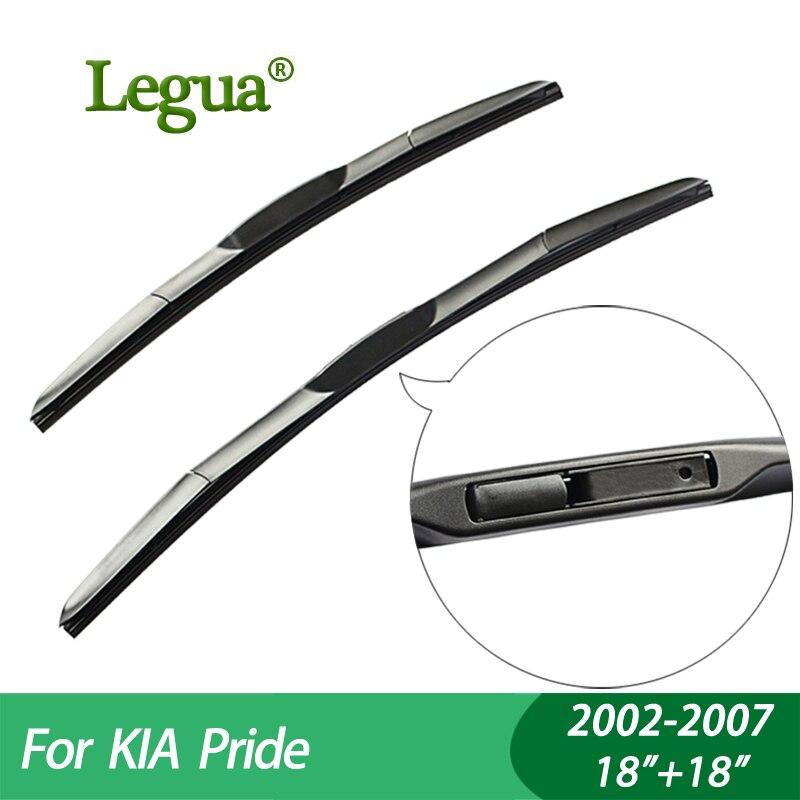 "Legua Wiper blades For KIA Pride (2002-2007), 18""+18"",car wiper,Hybrid type Rubber, Windscreen Windshield Wipers, Car accessory"