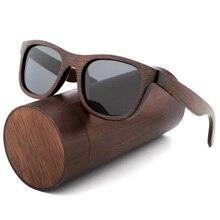 Lunettes de soleil Vintage en bambou pour femmes   Lunettes de soleil de luxe faites à la main, zèbre polarisé de haute qualité avec étui à lunettes