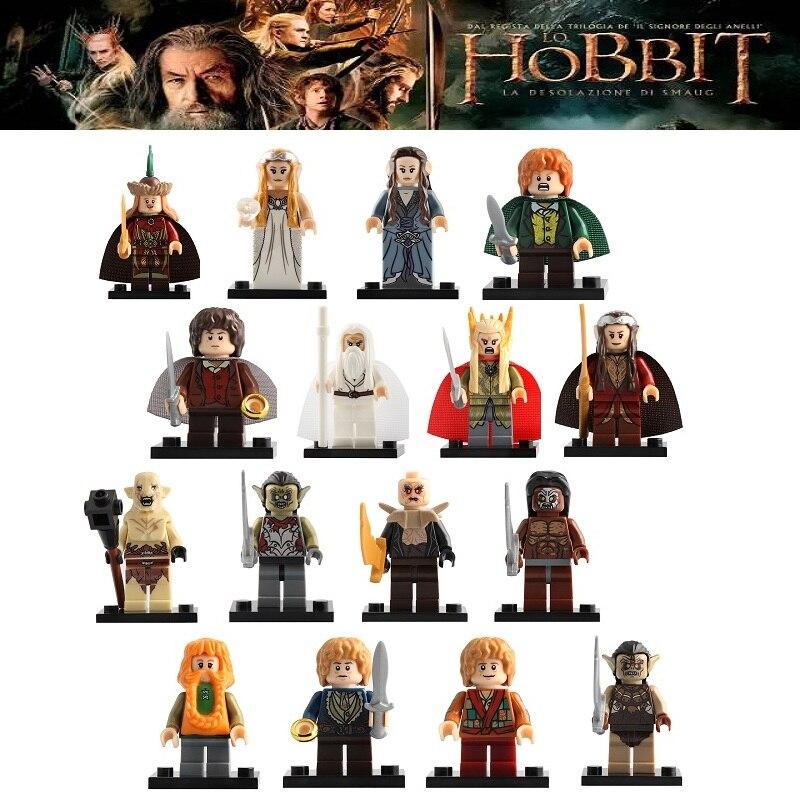 16 pçs/set legoing blocos de construção minifigurado o senhor dos anéis thranduil figuras ação crianças presente brinquedos ck017