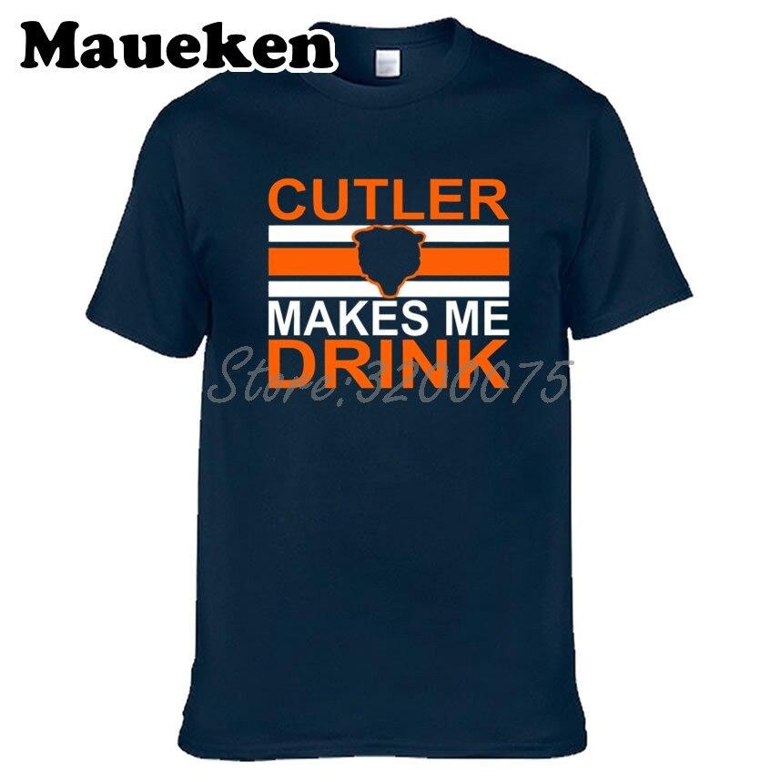 Hombres Jay Cutler 6 Cutler Me hace beber camiseta ropa camiseta hombres para los fans de Chicago regalo o-cuello tee W1101009