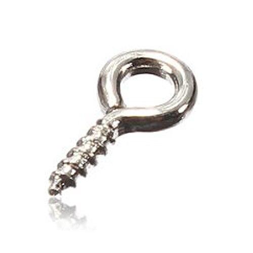 JFBL 100 Uds pequeños alfileres con ojetes Eyepins ganchos ojales tornillo roscado plata/oro/cobre 8x3,5mm para joyería