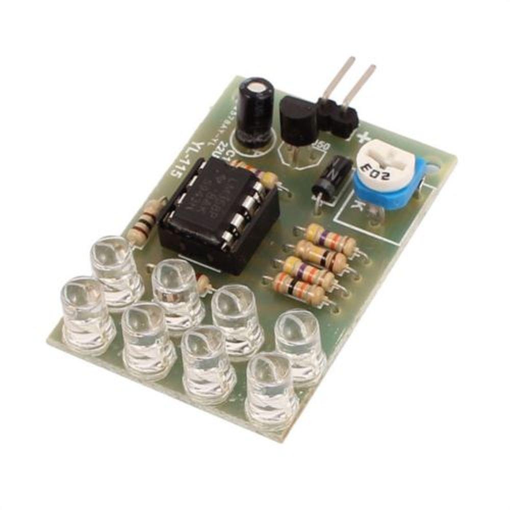12V Breathe Light 8 LED Blue Flashing Lamp Parts LM358 Electronic DIY Module