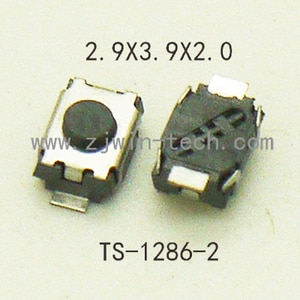 1000PCS Mini Push Button Momentary Tact Button Switch 12V Tactile Switch SMD 2pin 3X4X2mm/2.5mm with/without points
