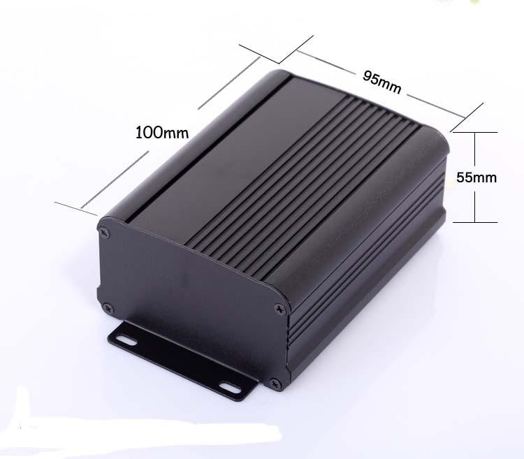 Caja de aluminio splitted pcb project box, caja 95x55x100mm, montaje en pared DIY, caja de electrónica extruida