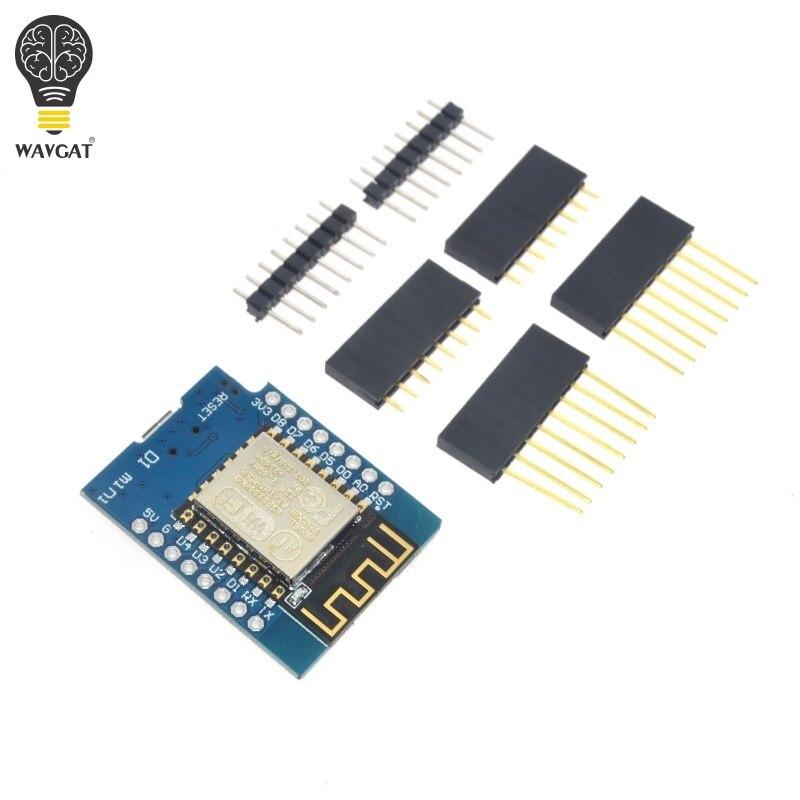 5 комплектов D1 mini-NodeMcu 4 м байтов Lua Wi-Fi Интернет вещей, макетная плата ESP8266 от WeMos