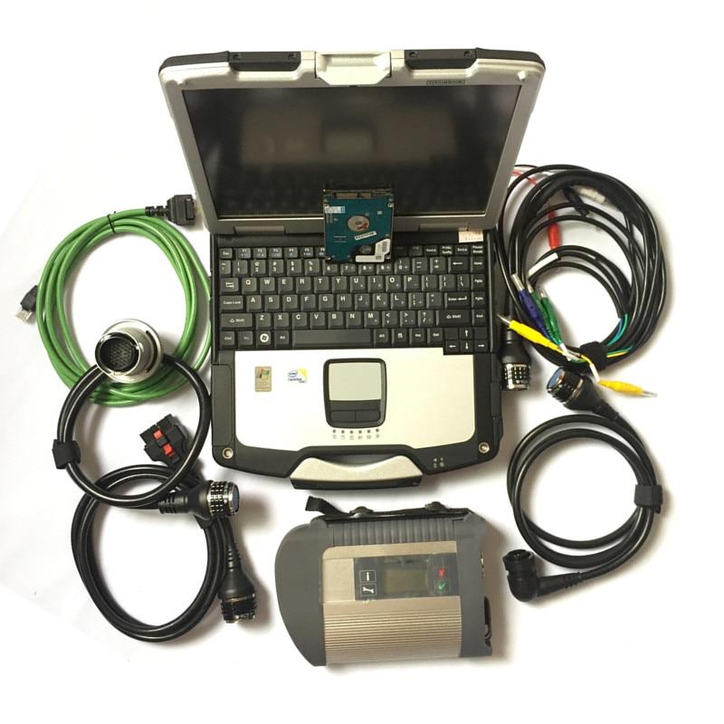 Mb estrela c4 mb sd conectar 06/2020v software estrela diagnóstico automático com CF-30 4gb diagnóstico pc para mb carro/caminhão dhl frete grátis