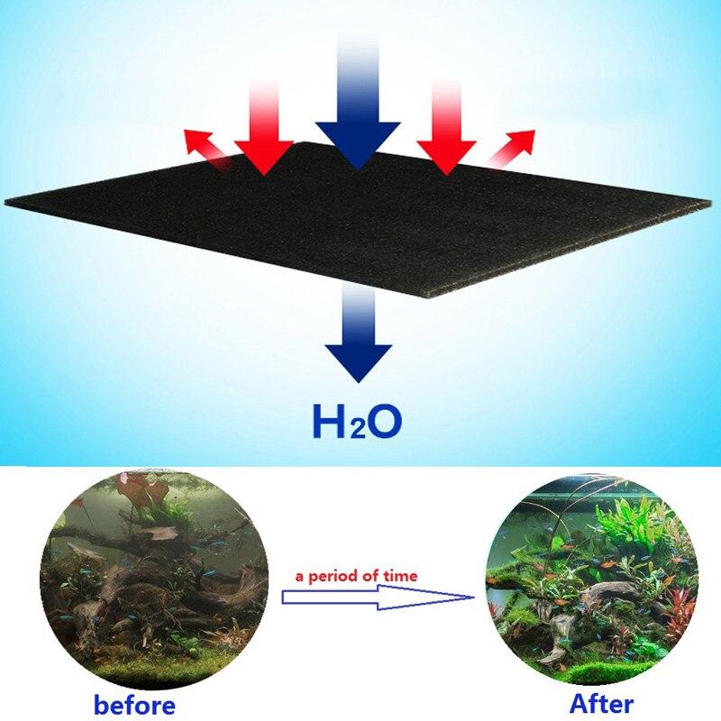 Filtro de algodón bioquímico negro de 50x12x2 cm para acuario externo espuma de estanque esponja filtro útil Skimmer cascada proveedores