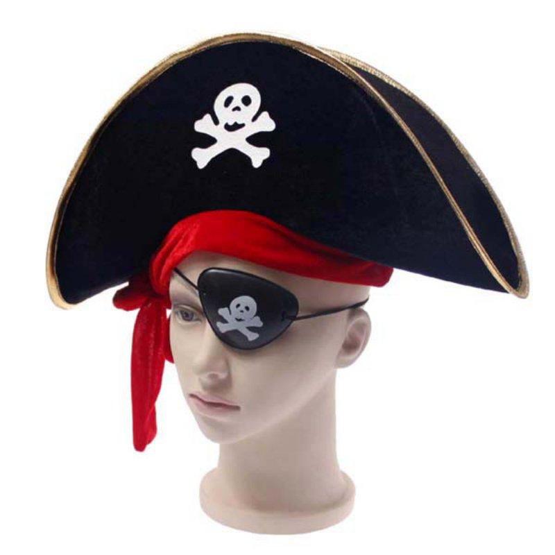 New 1 Pc Fun Halloween accessories skull hat caribbean pirate piracy Corsair cap party supplies