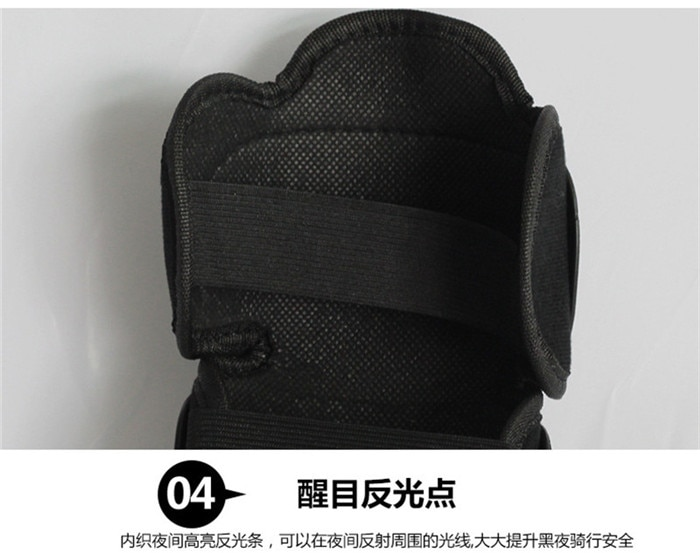 4pcs Motocross Knee Protector Brace Protection Pad Kneepad Motorcycle Sports Cycling Guard Protector knee guard Black enlarge