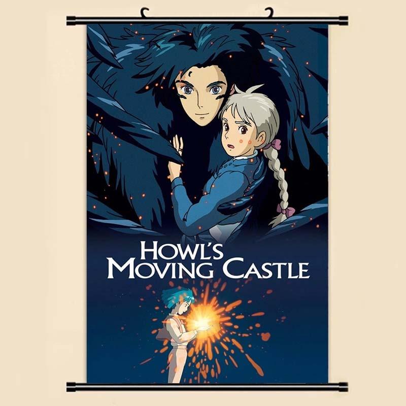 Anime Manga Howl Pared de Castillo desplácese pintura 40x60 foto papel pegatinas cartel 001